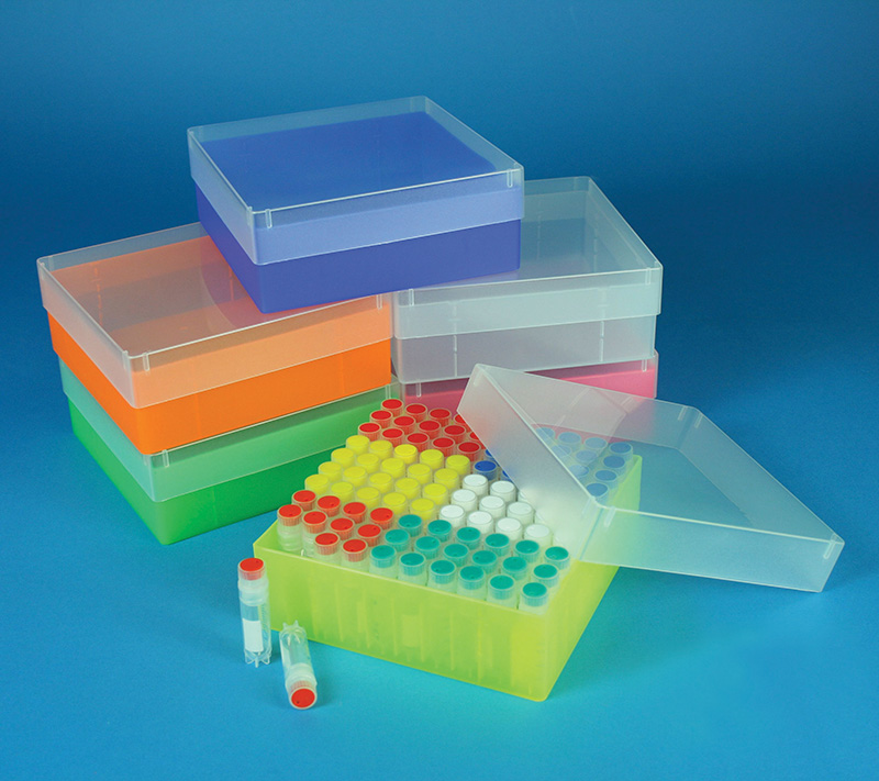 Cryo Box without divider, polypropylene, 136 x 136 mm