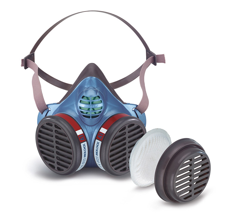 MOLDEX Masks with gas filter cartridges permanently mounted to the facepiece - Series 5000