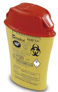 Approved sharps containers