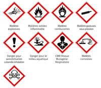 GHS labels for dangerous products (norm NF)