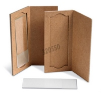 Carboard pouch for 1 slides - dimensions L x W x H (mm): 95 x 42 x 5