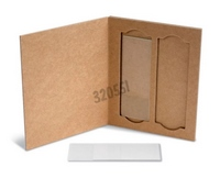 Cardboard pouch for 2 slides - dimensions L x W x H (mm): 103 x 79 x 5